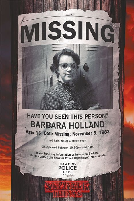 Stranger Things Missing Barb Poster Posters Eu See more ideas about stranger things poster, stranger things, stranger. stranger things missing barb poster 61x91 5cm